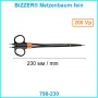 Биполярные ножницы Bizzer Metzenbaum fein 230 мм